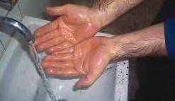 yıkanmış eller